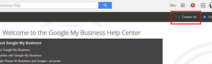 contact Google My business for local listing support