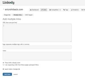 linkody - import bulk links
